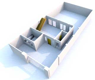 3 dimensional building plan
