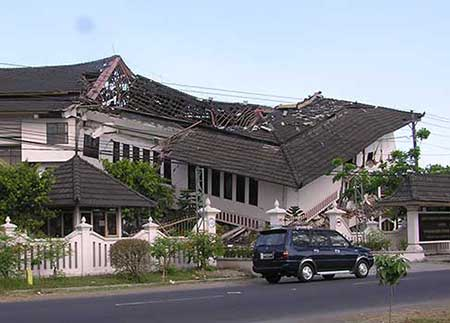 Government building collapse in yogyakarta earthquake