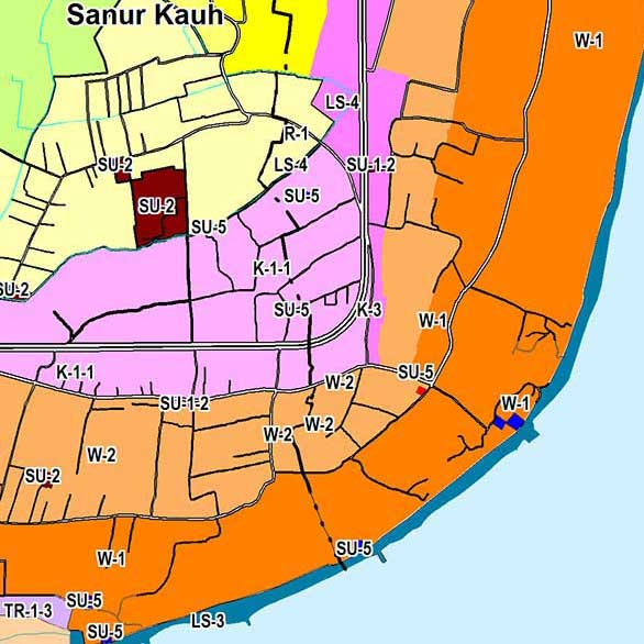 Sample of a zoning map